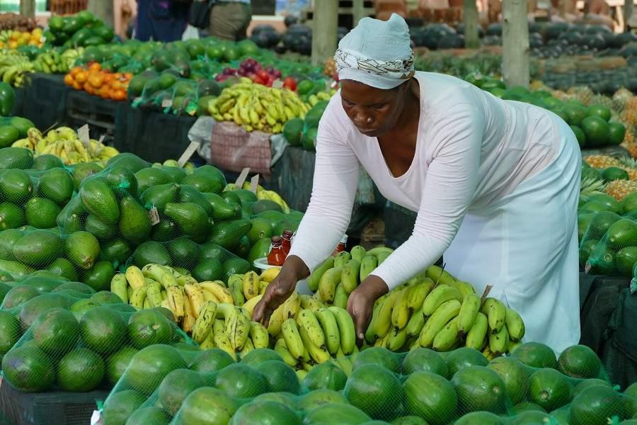 Auf einem Markt in KwaZulu Natal