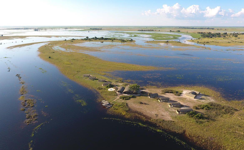Luftaufnahme von Serondela