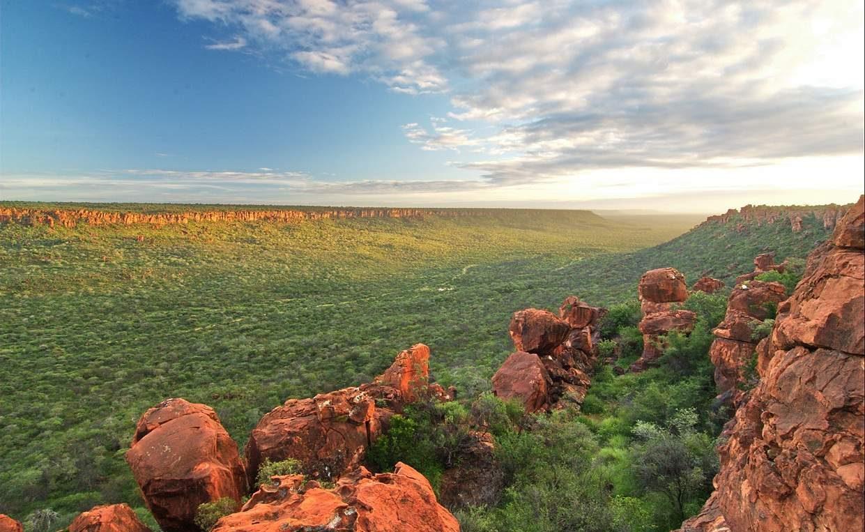 Waterberg Plateau im Grünen Namibia