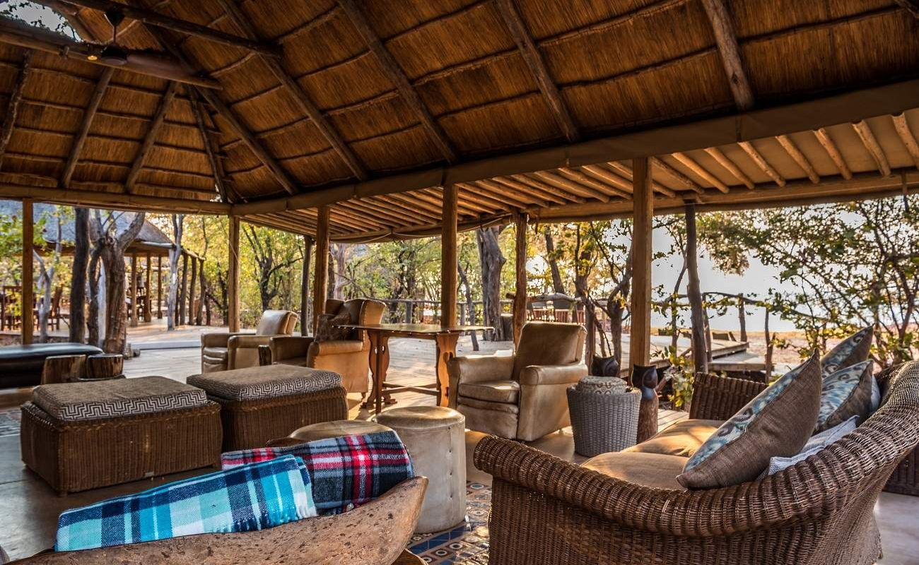 Lounge von Changa am Lake Kariba