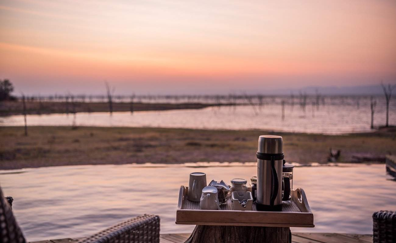 Sonnenaufgang am Pool von Changa