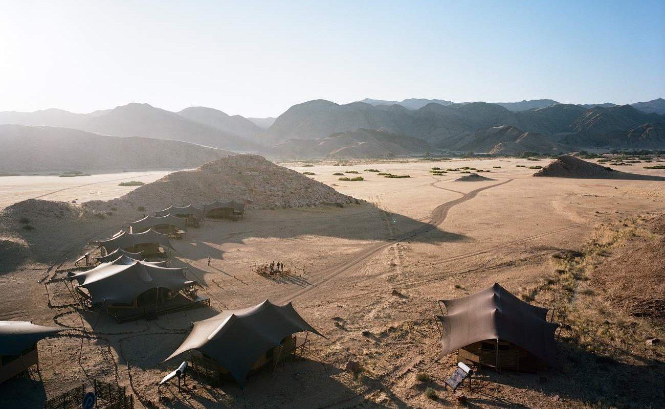 Blick auf das Hoanib Valley Camp