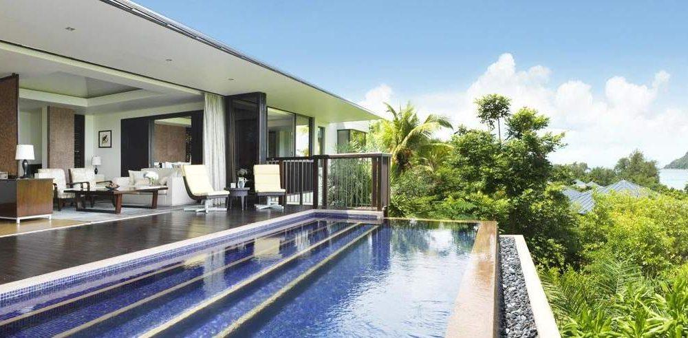 Buchen Sie das Luxushotel Raffles Praslin mit Seychellen Spezialist Genuss Touren