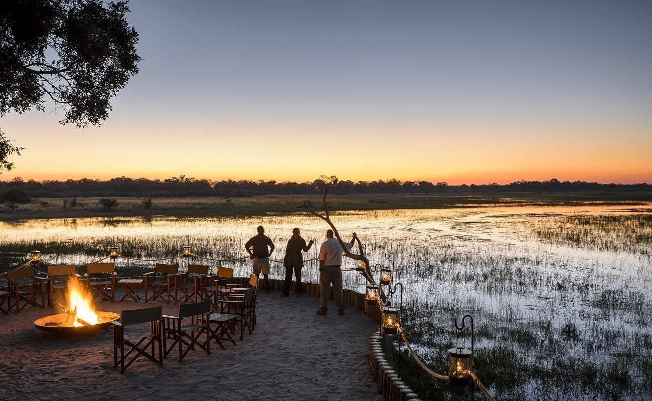 Die Boma des Luxuscamps von Sanctuary Retreats