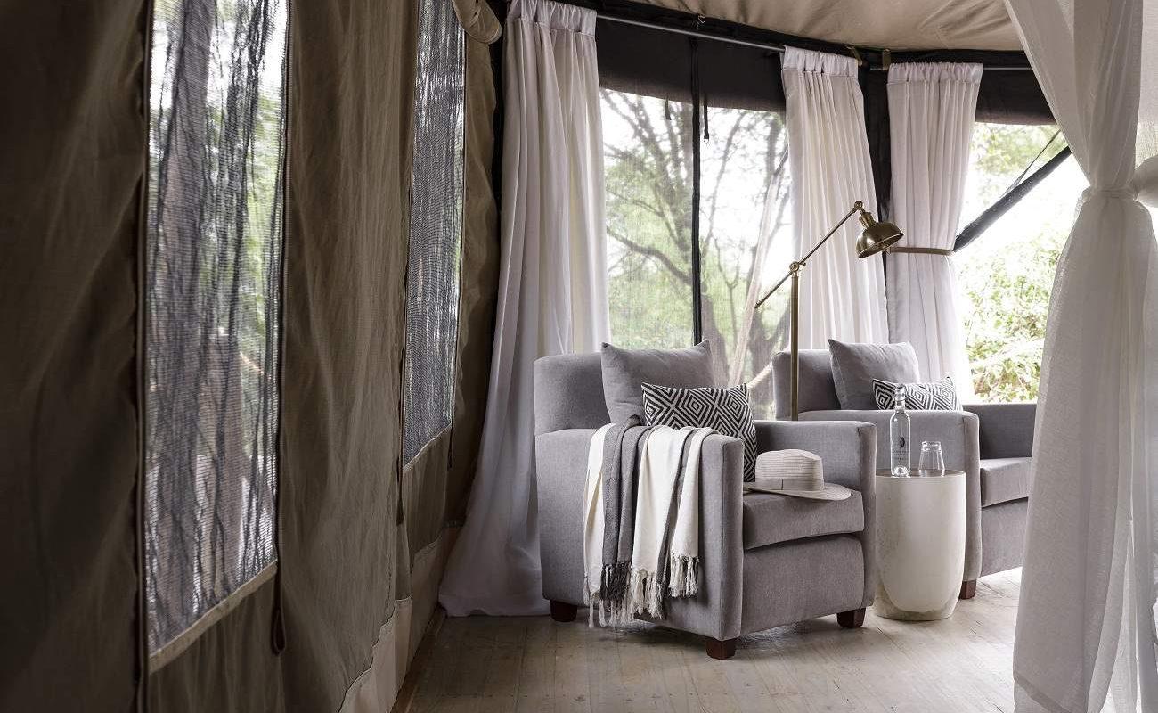 Die luxuriösen Zelte des Camps im Tarangire in Tansania