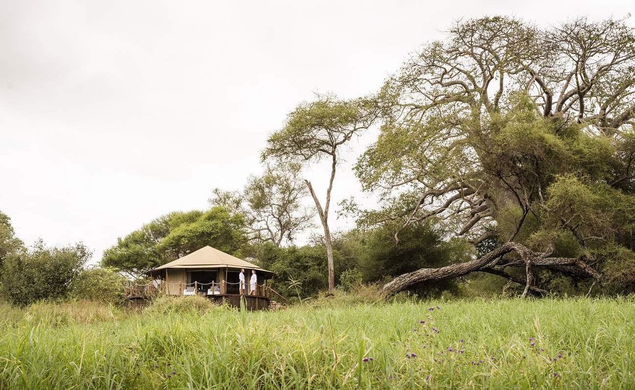 Die großzügigen Zelte von Swala