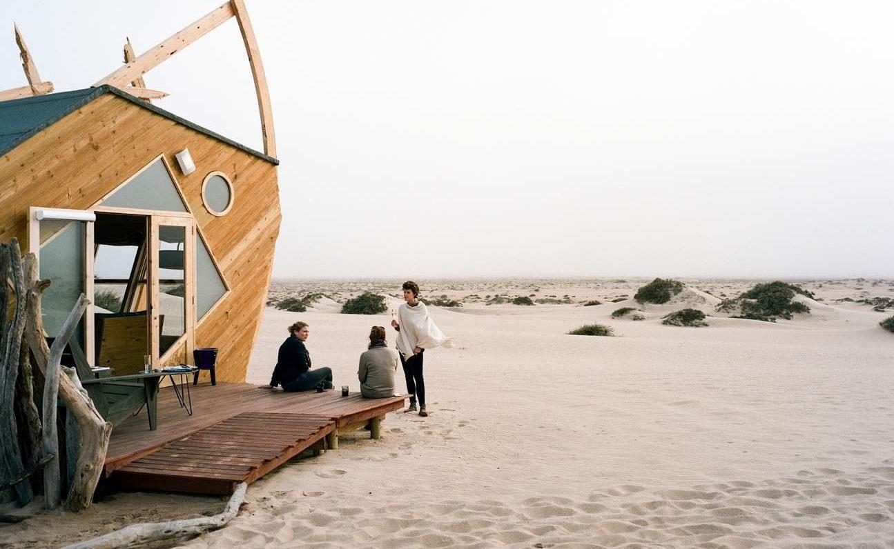 Veranda eines Zimmers der Shipwreck Lodge