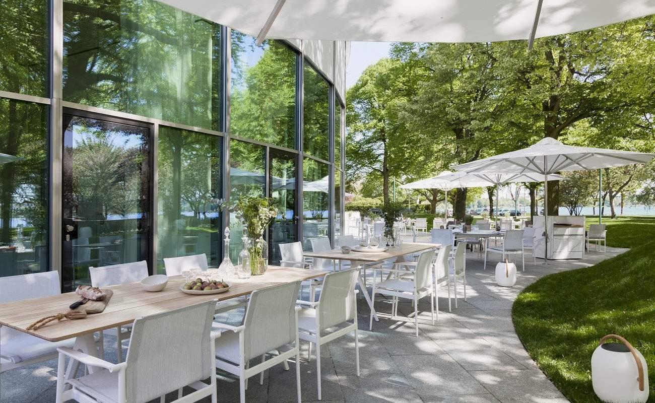 Terrasse des Parkview Hotels in Hamburg
