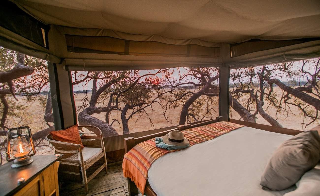 Schlafzimmer im Baumhaus Dove's Nest
