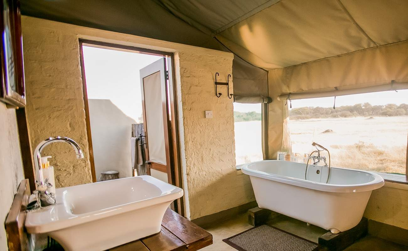 Badezimmer im Zelt im The Hide