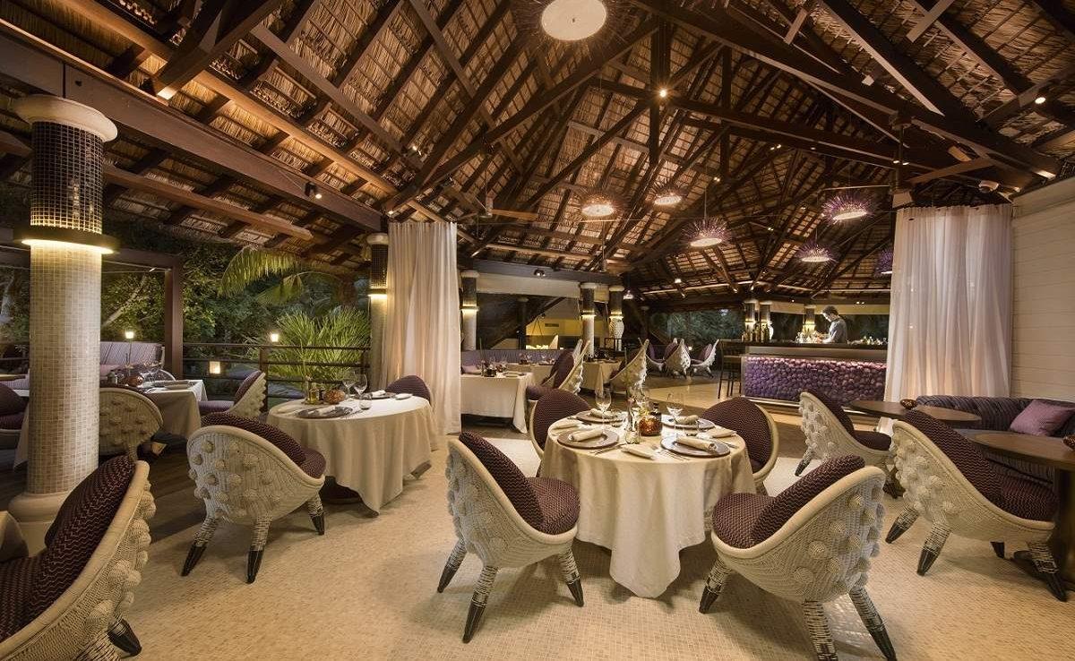 Diva Restaurant des Luxusresorts auf Praslinf