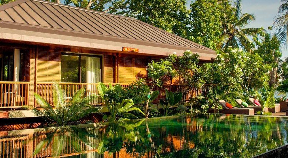 Buchen Sie das Dhevatara Beach Hotel Praslin mit Ihrem Seychellen Spezialisten Genuss Touren