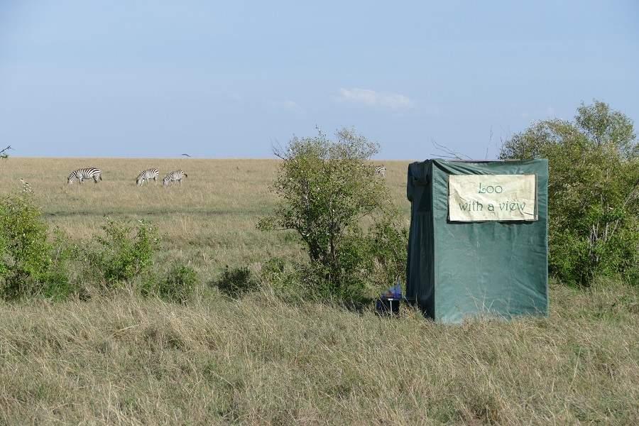 Klo mit Aussicht in der Masai Mara