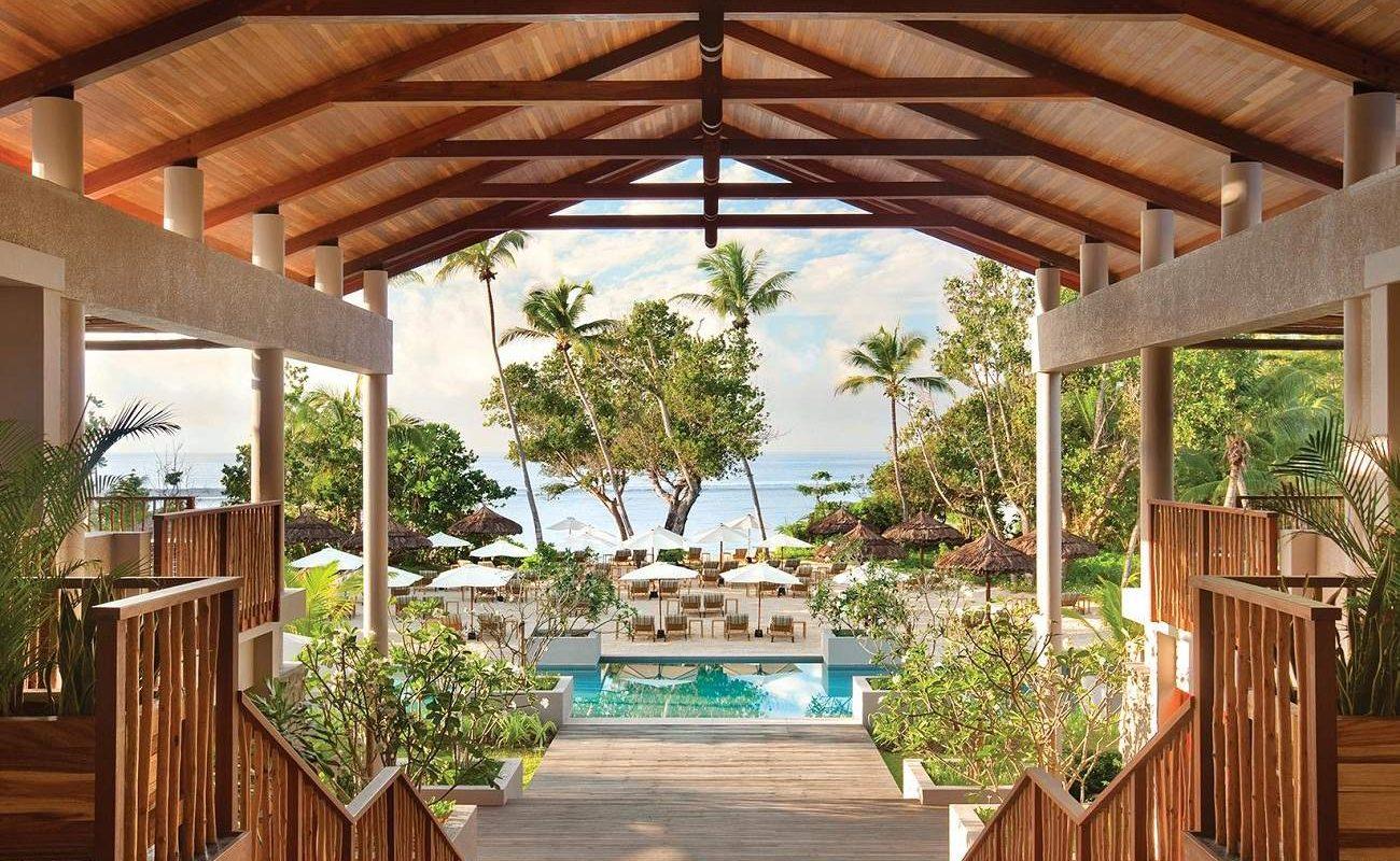 Lobby des Luxushotel Kempinski Seychelles