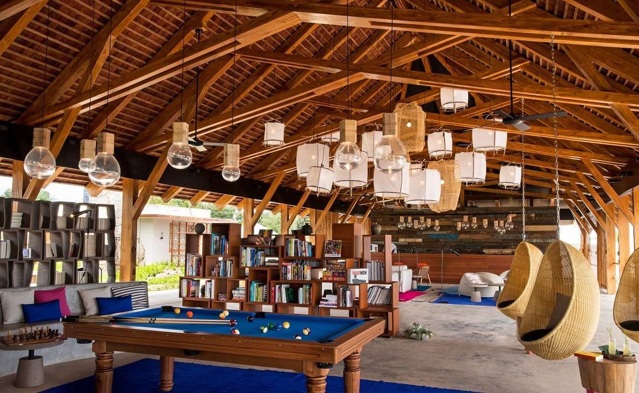 Rezeption des Boutiquehotels auf Sansibar