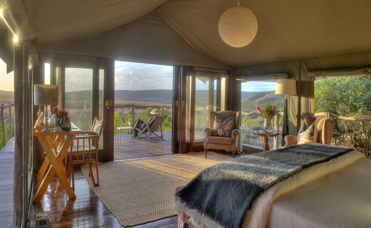 Zelt des Hillsnek Safari Camps