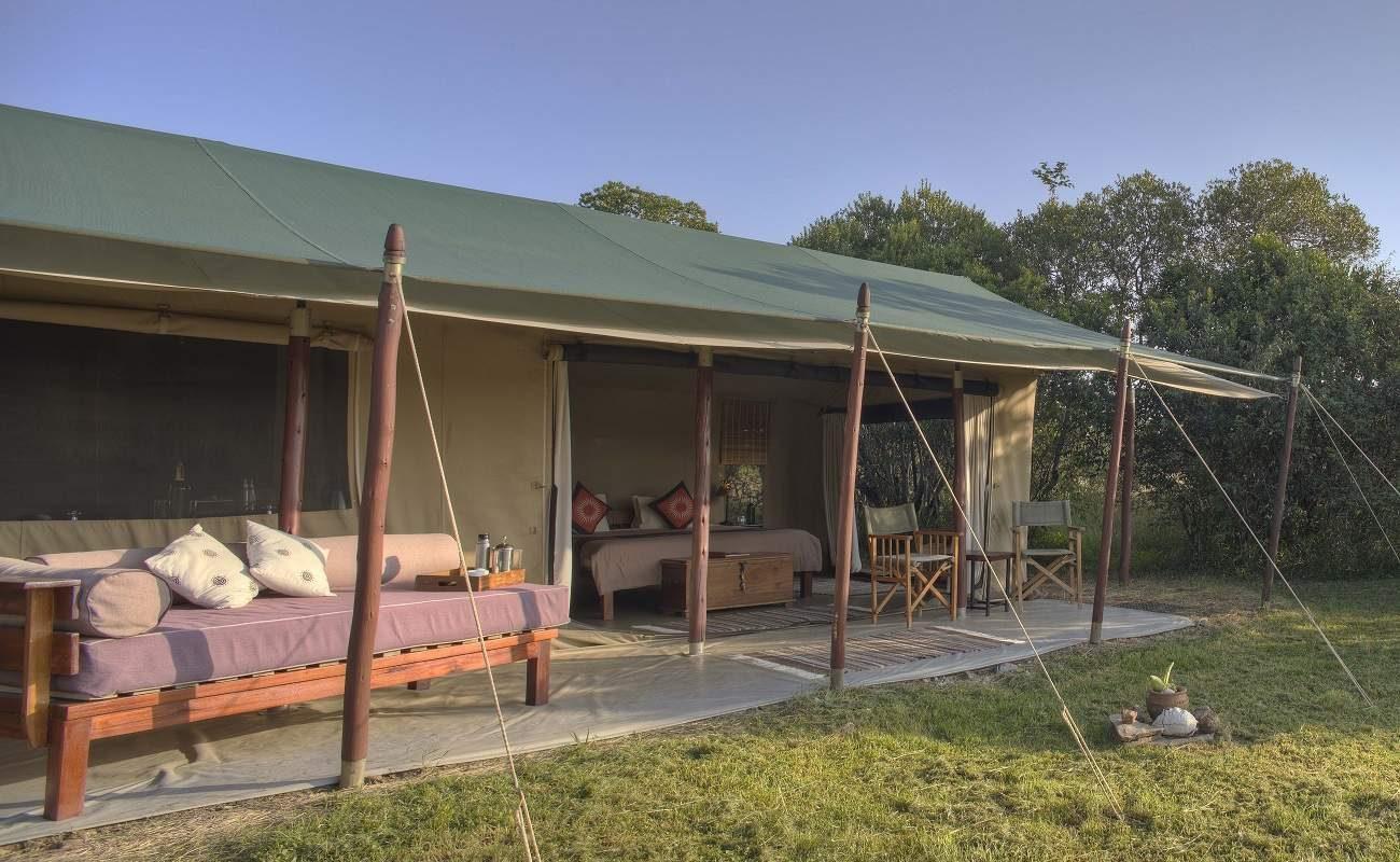 Veranda eines Zeltes von Encounter Mara