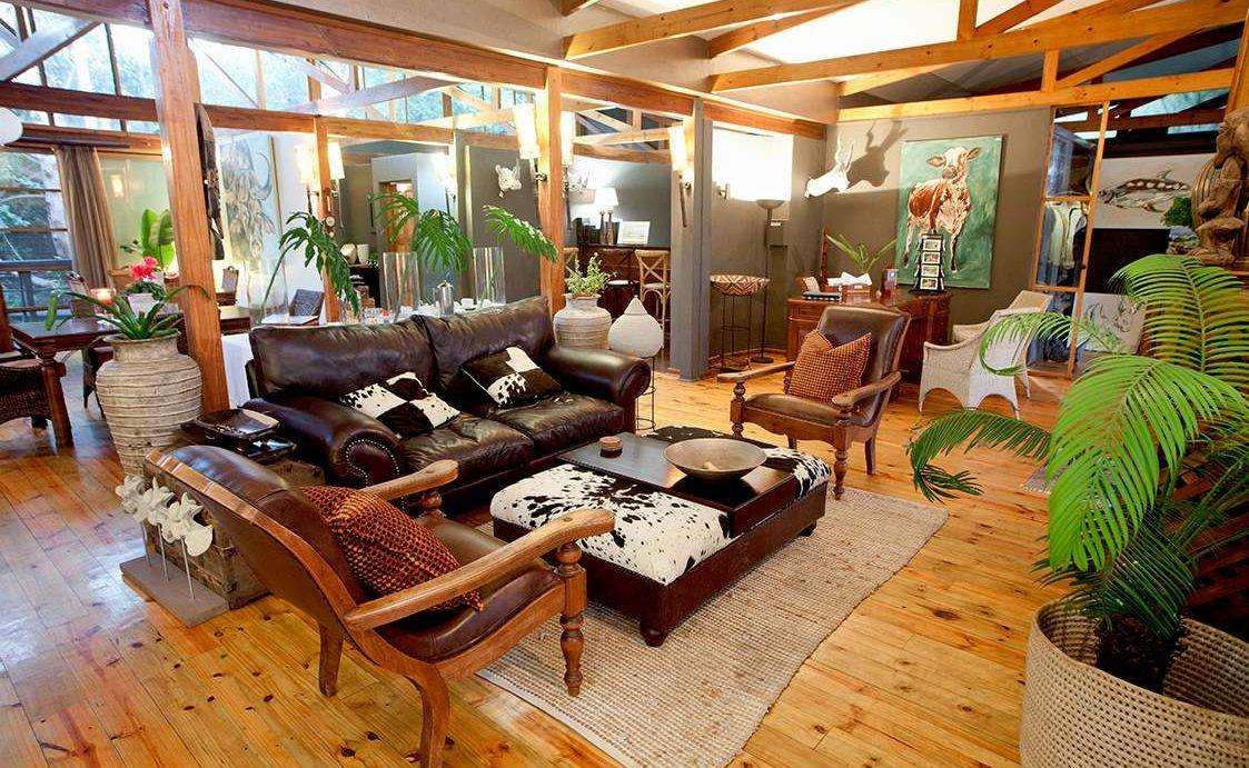 Lounge der Luxuslodge Makakatana
