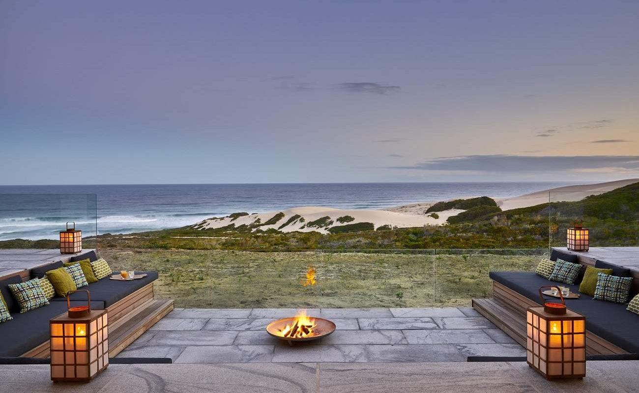 Feuerstelle der Morukuru Beach Lodge