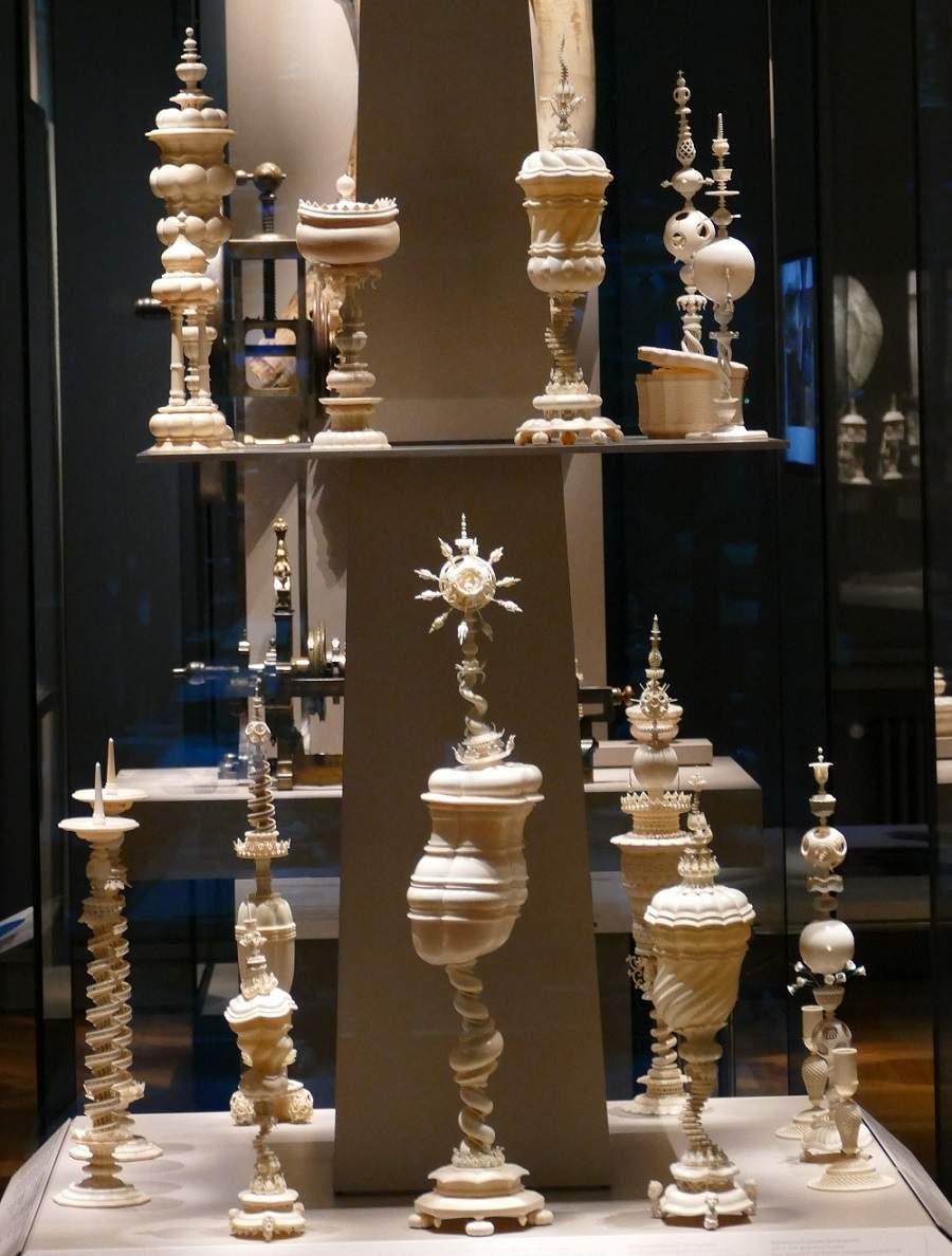Drechselfiguren Elfenbein Bayerisches Nationalmuseum