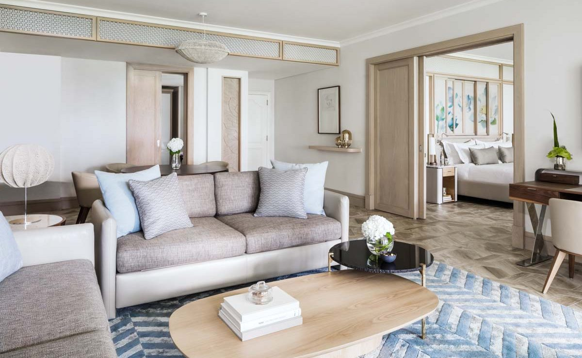 Wohnzimmer einer Ocean Suite