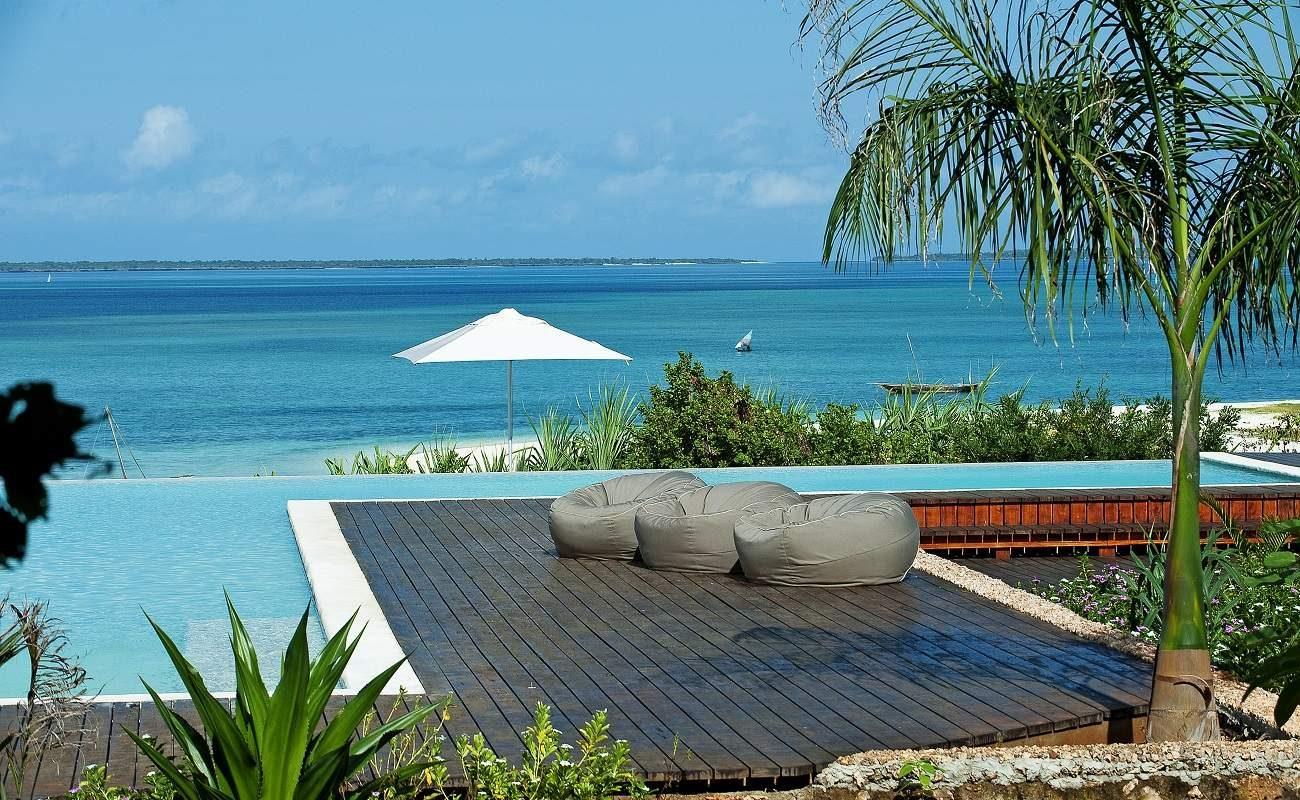 Hauptpool von Kilindi auf Zanzibar