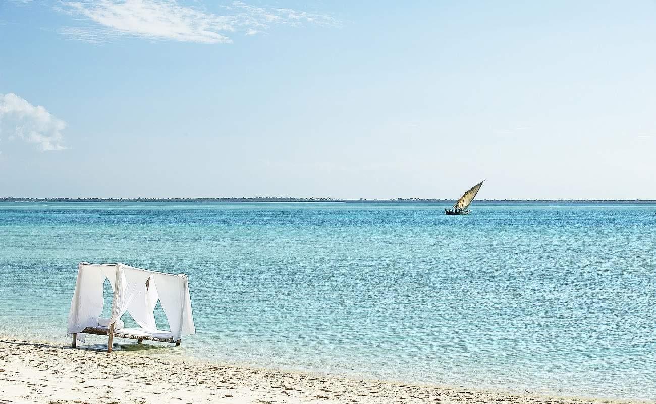 Sunbed am Strand von Kilindi Zanzibar