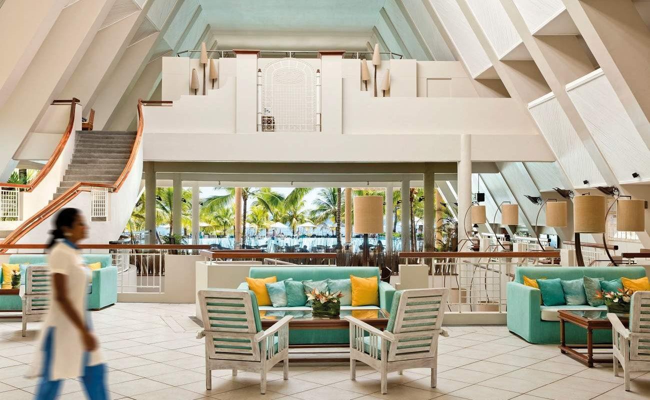 Lobby des Luxushotels auf Mauritius