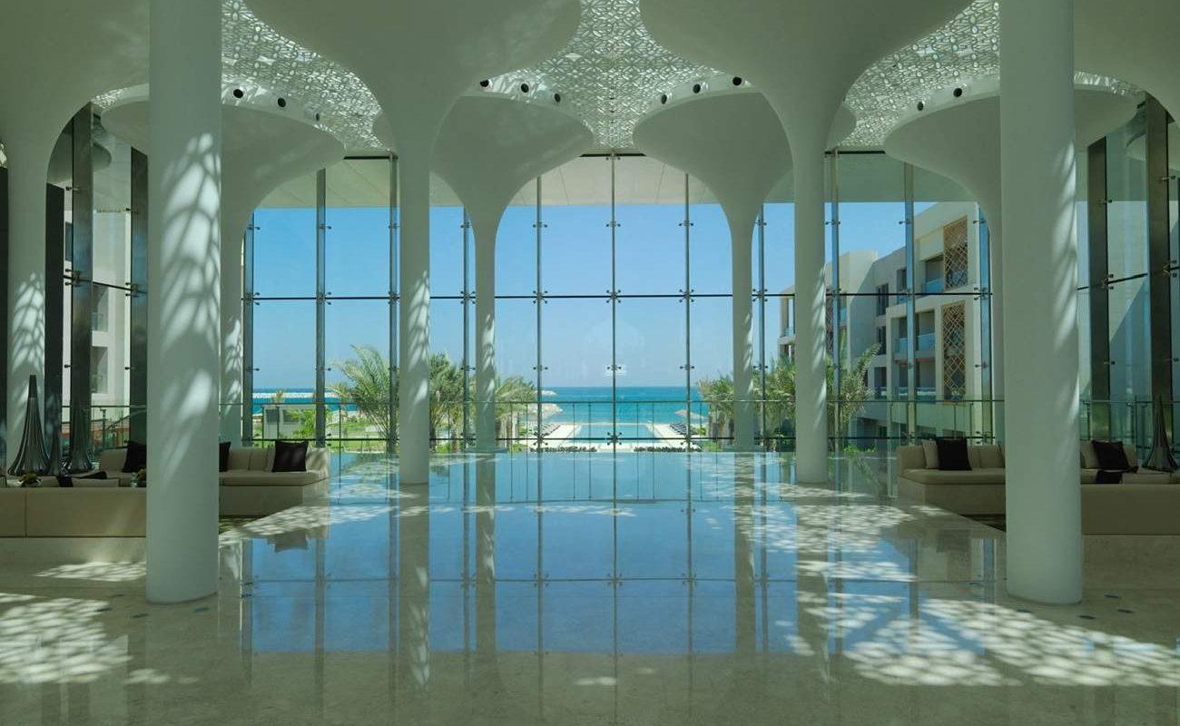 Lobby des Luxushotels in Muskat
