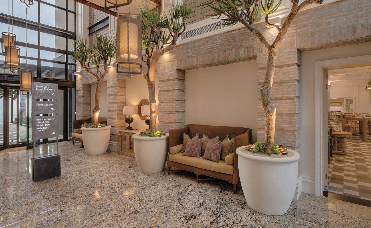 Lobby des Luxushotels in Swakopmund