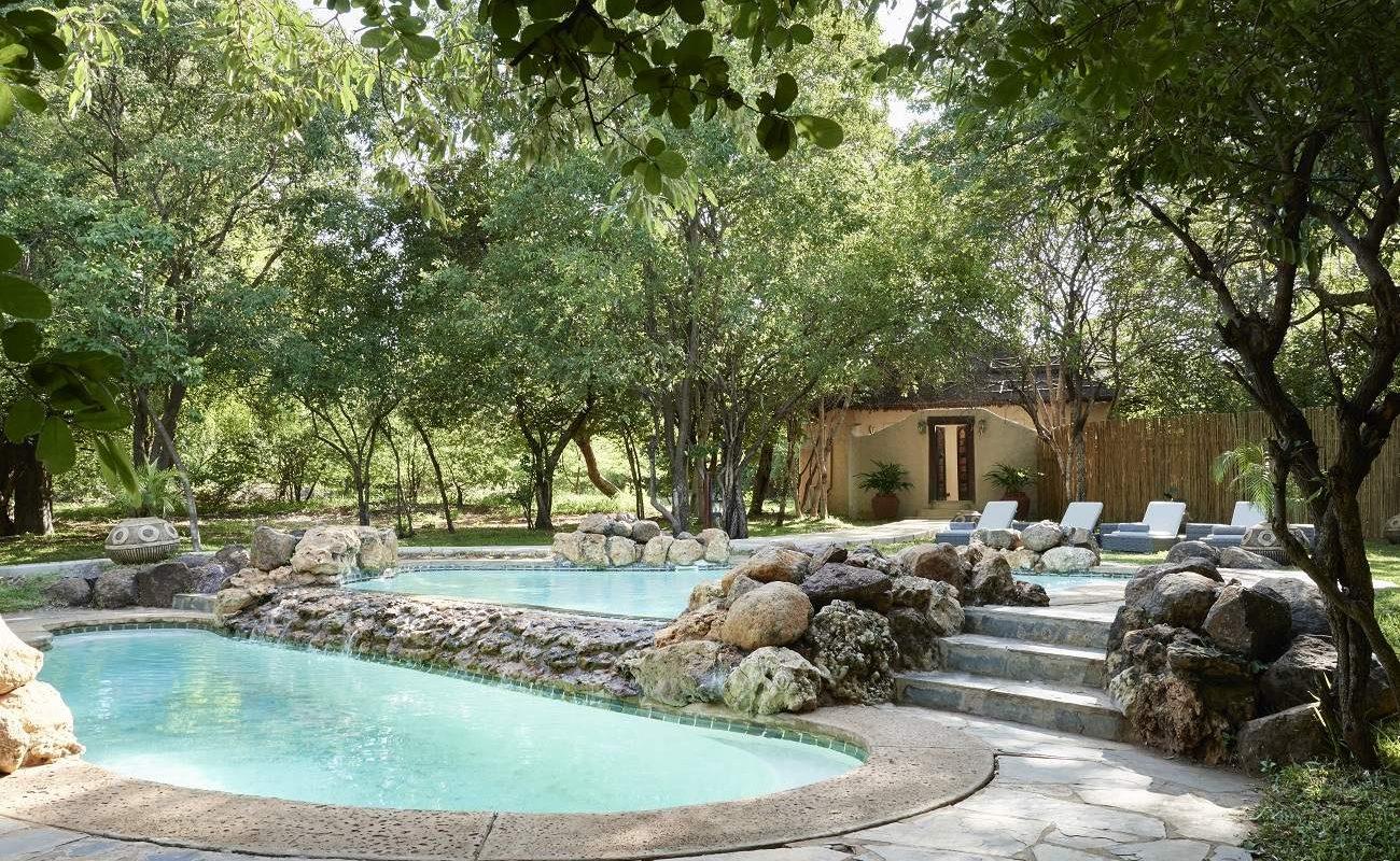 Den Spa-Bereich von Chobe Chilwero mit Pool sollten Sie nicht verpassen