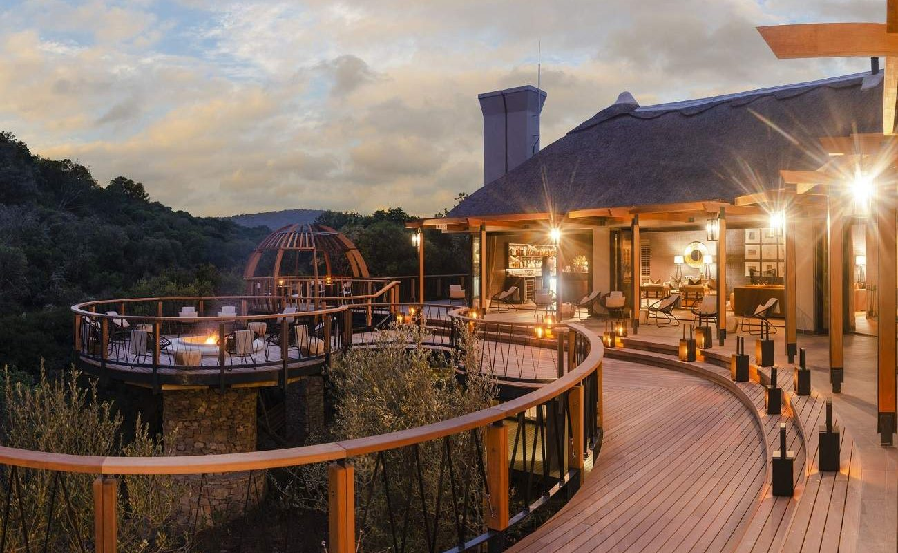 Deck Eagles Crag Lodge Shamwari