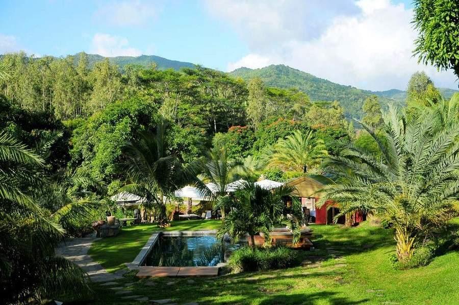 Boutiquehotel Lakaz Chamarel in den Bergen von Mauritius