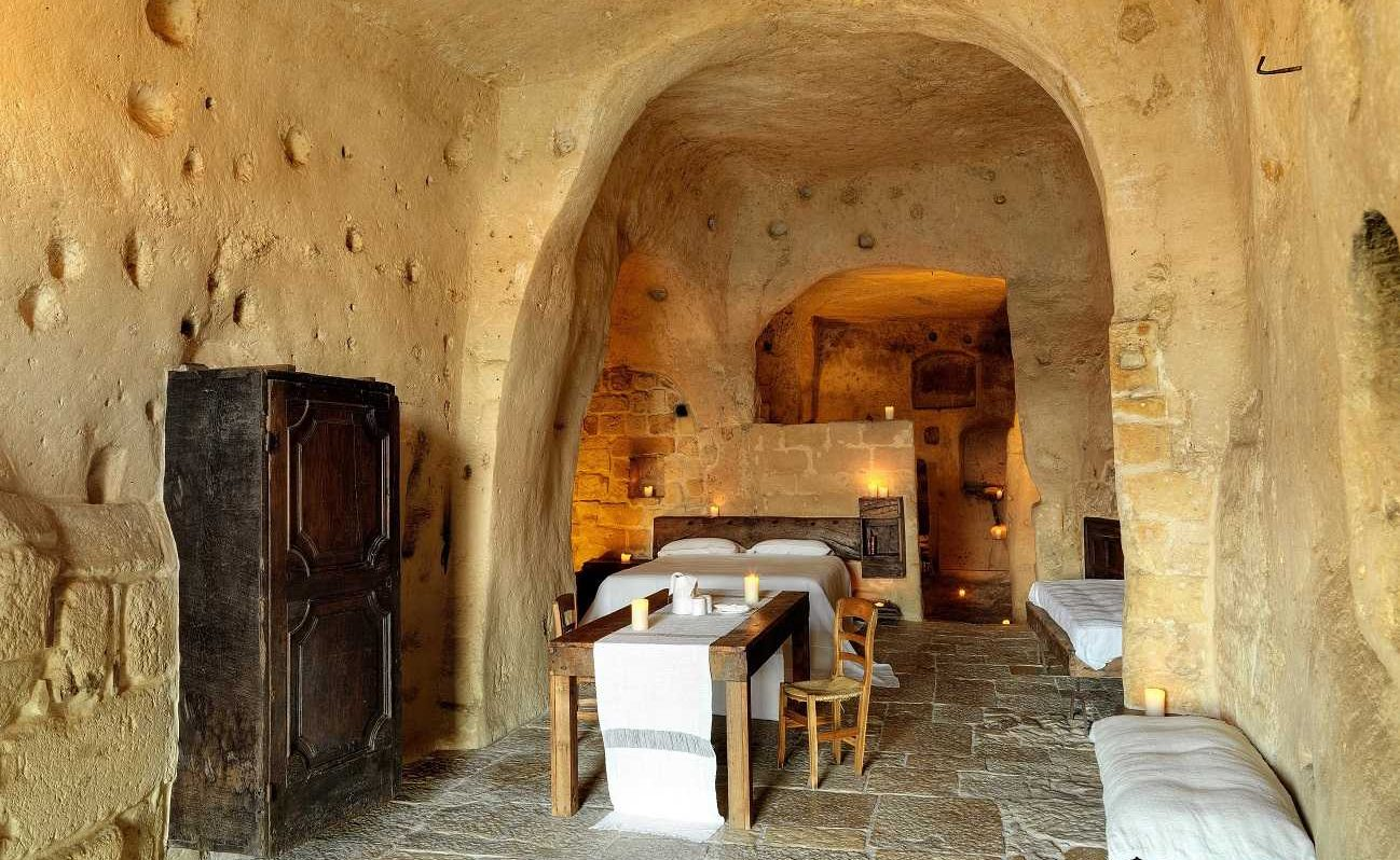 Executive Suite in der Grotte Matera