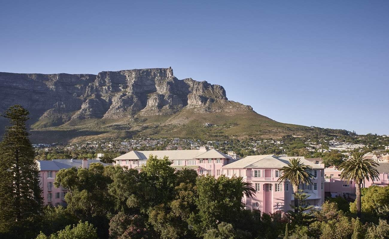Blick von Mount Nelson auf den Tafelberg in Kapstadt