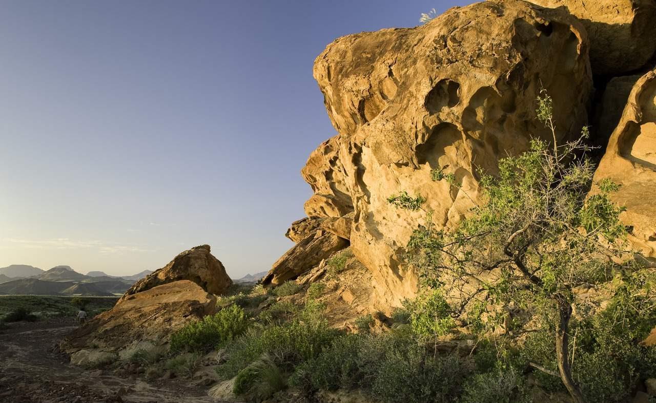 Bizarre Felsformationen im Damaraland