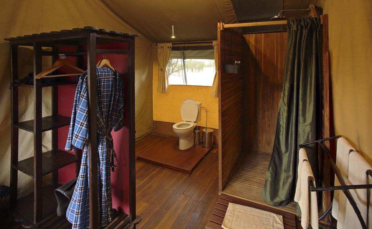 Badezimmer im Luxuszelt