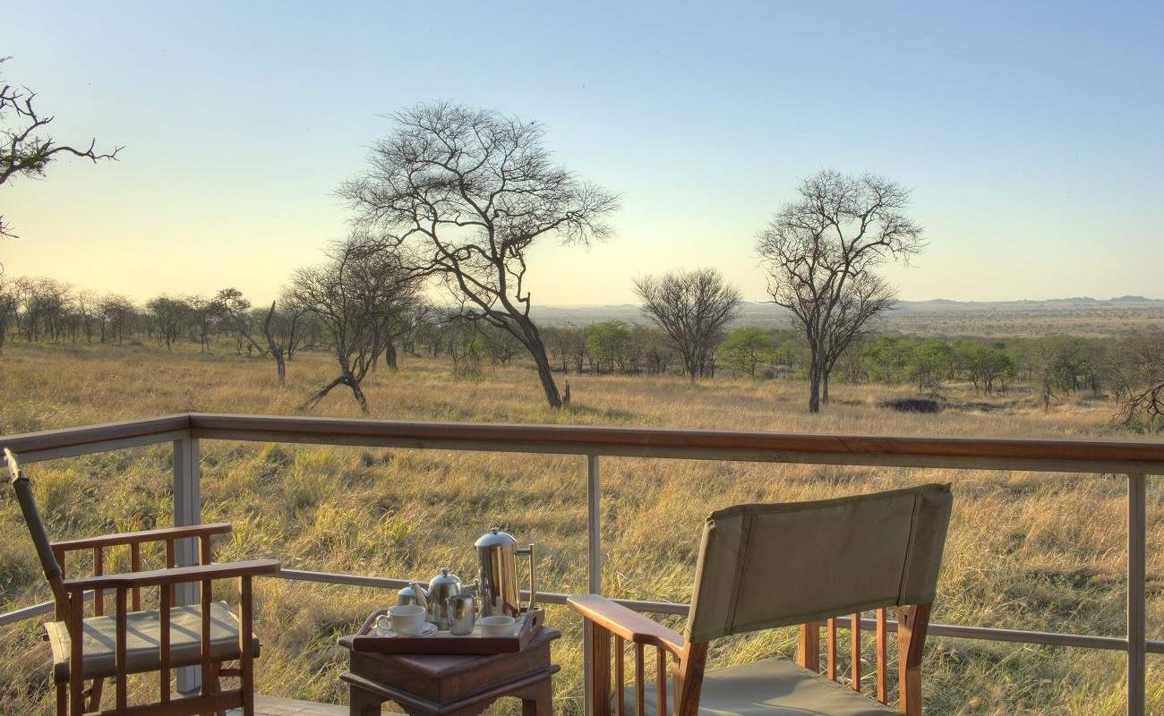 Aussicht auf die Serengeti von Ihre Veranda im Dunia Camp