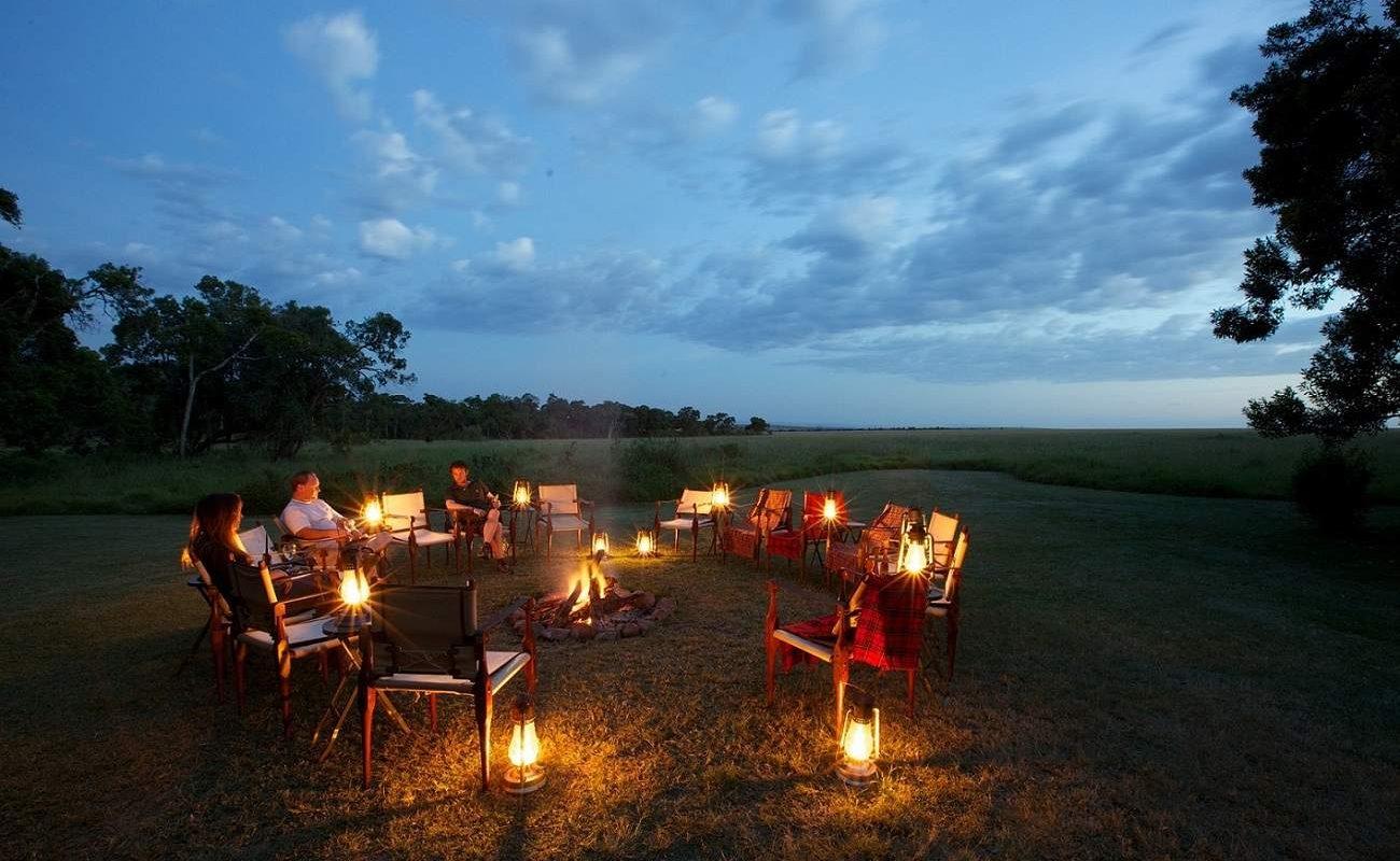 Stimmungsvolle Abende am Lagerfeuer in der Masai Mara