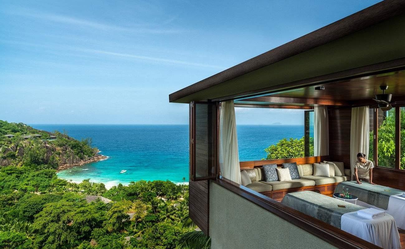 Wellness pur im Luxusresort mit herrlichem Blick über den Indischen Ozean