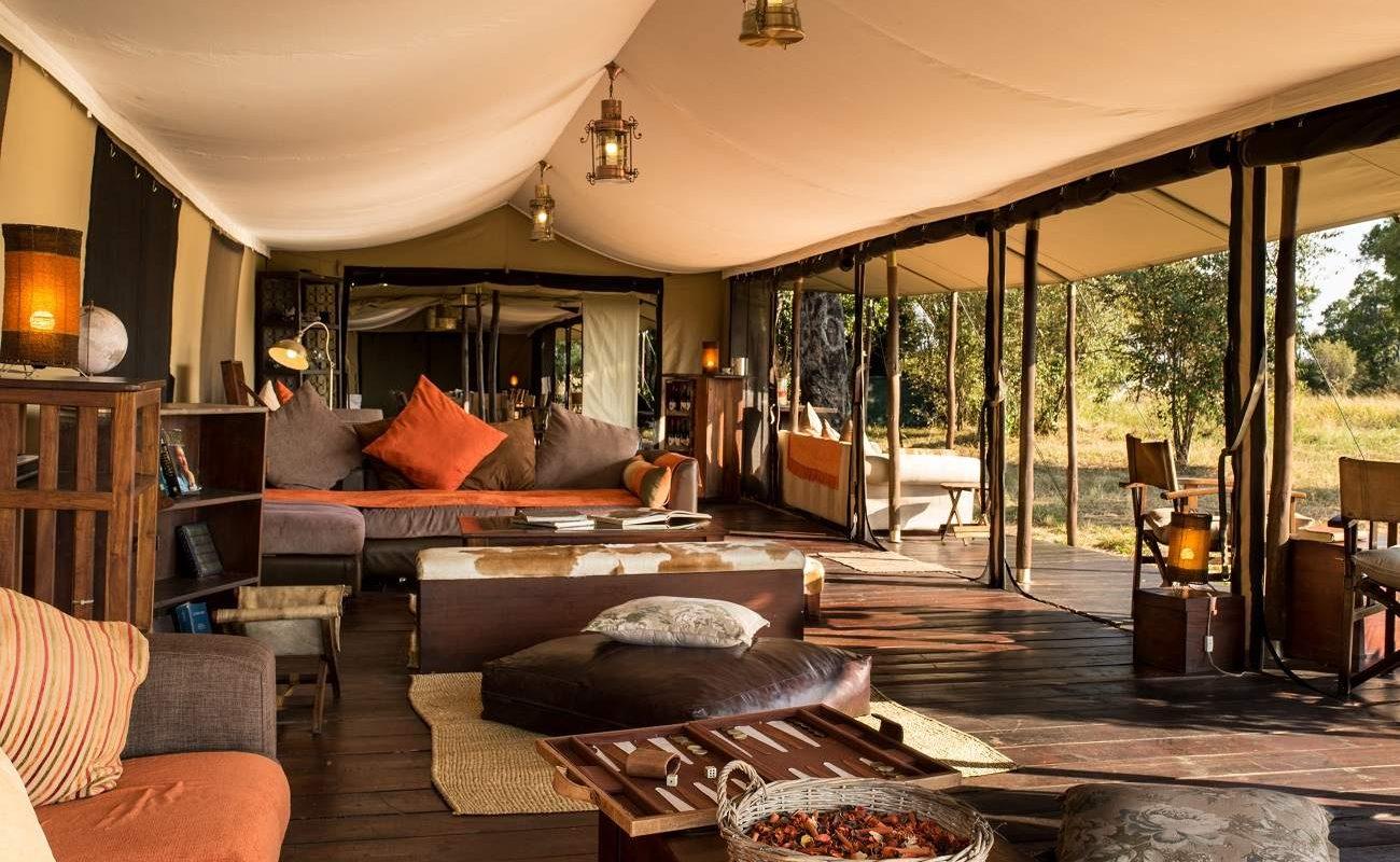 Gemeinschaftszelt von Lemala Ndutu im Süden der Serengeti