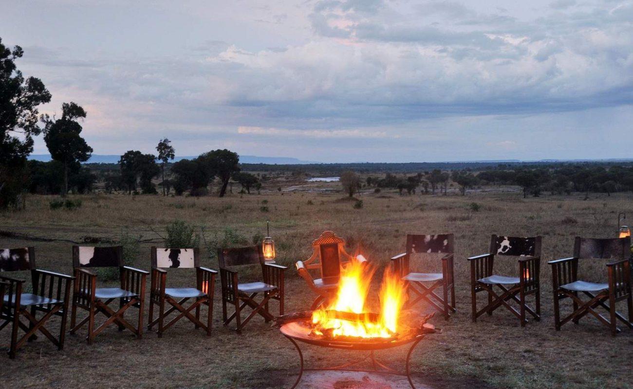Lagerfeuer im Lemala Ndutu Camp