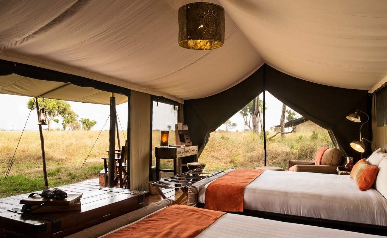 Luxuszelt des mobilen Camps im Süden der Serengeti