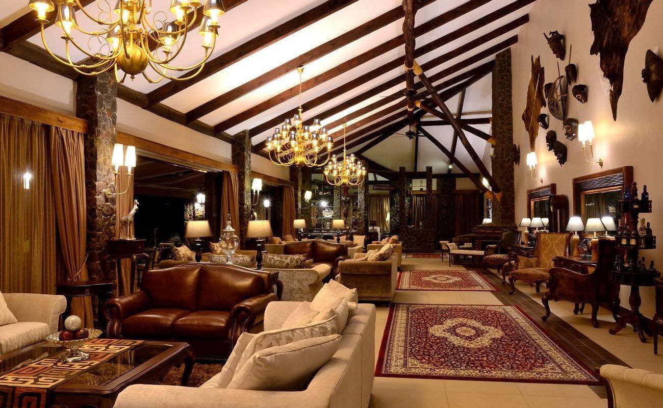 Abends in der Lodge der Oldeani Mountain Lodge