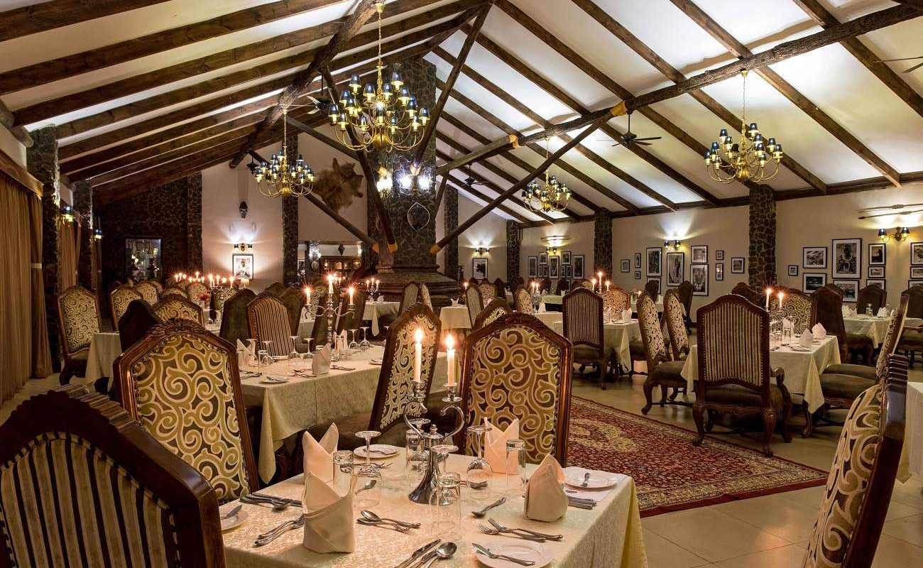 Restaurant der Ngorongoro Oldeani Mountain Lodge