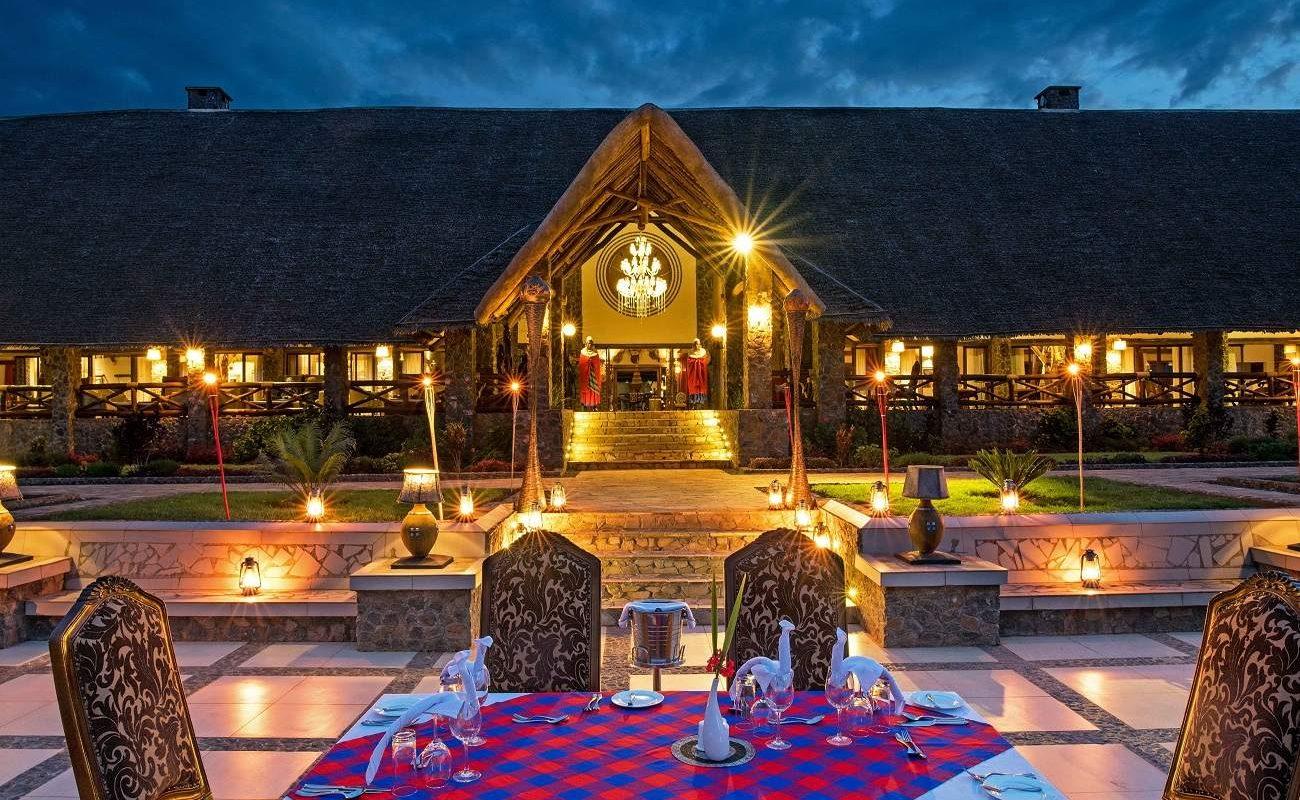Haupthaus der Lake Manyara Kilimamoja Lodge