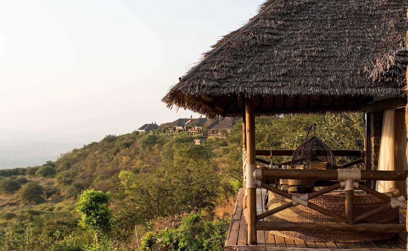 Suite der Luxuslodge am Lake Manyara