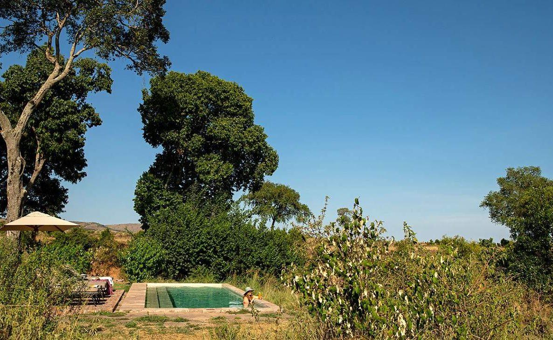 Der kleine Infinity Pool mit Blick auf die Masai Mara