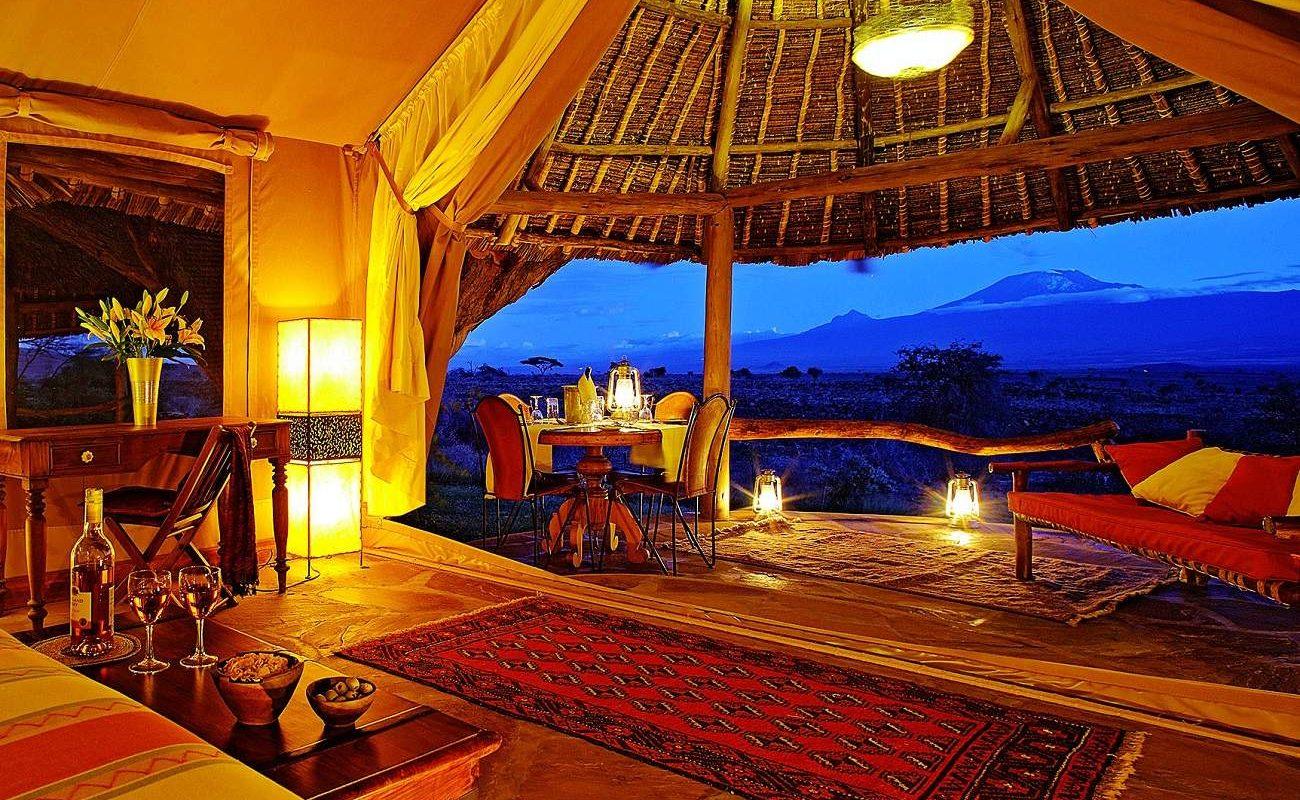 Luxuszelt im Tortilis, Amboseli