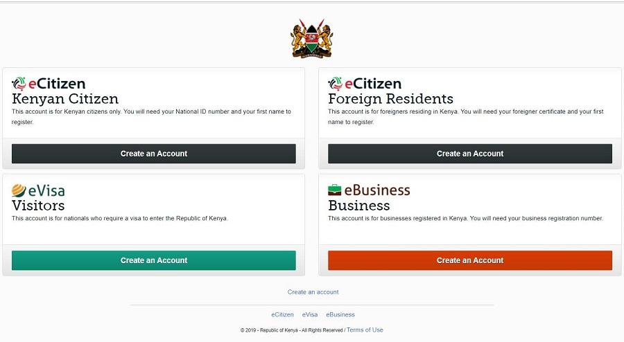 Verschiedenen Profile auf der Seite von ecitizen Kenya